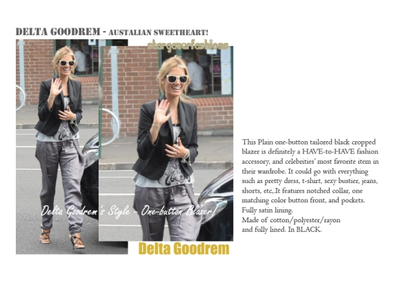 deltagoodrem one-button blazer