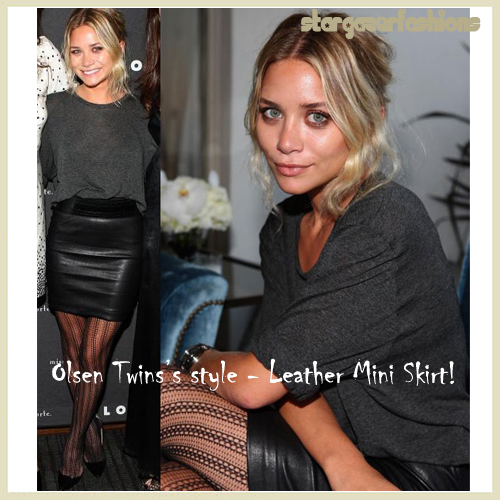 OlsenTwins-leatherminiskirt-ashley olsen copy