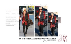 Christina Aguilera quilted vest black2