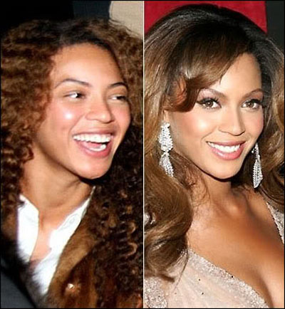 celebraties without makeup. Beyonce without makeup