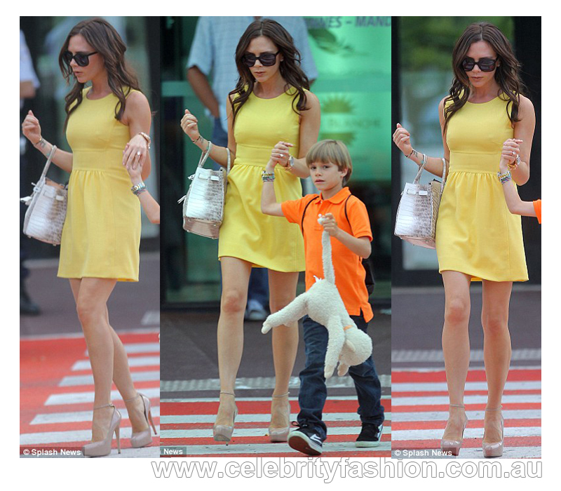 Victoria Beckham Long Dresses. Victoria Beckham stepped out