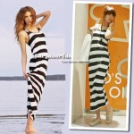 Striped cotton maxi dress AU$39.99