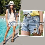 Jessica Szohr Ripped Denim shorts AU$49.99