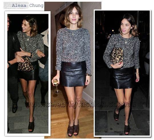 Leather Mini Dress AlexaChung j6r0pg7