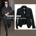 Drape front leather-like jacket AU$89.99