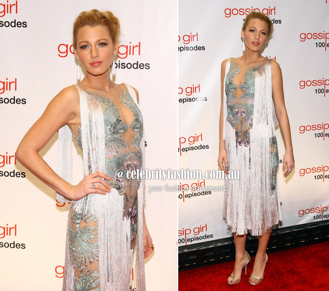 blake lively at gg party