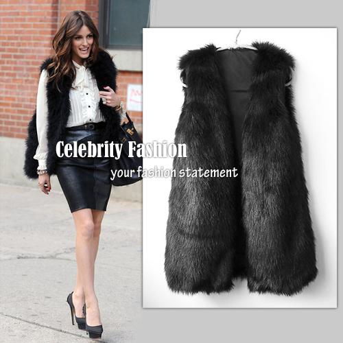 Black fur vest AU$49.99