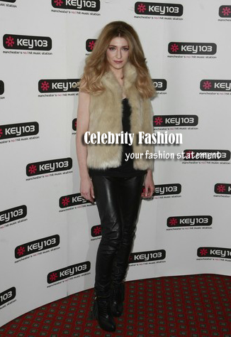 nicola roberts in leather skinnies